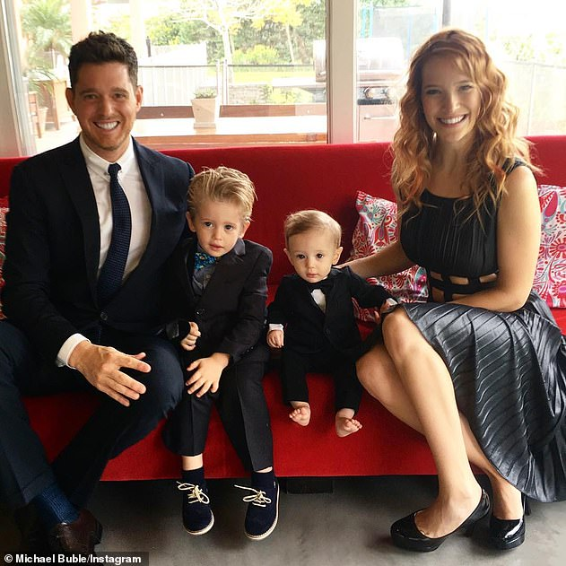 Family matters: The couple, who married in Argentina in March 2011, are the proud parents of three children: sons Noah, seven, and Elias, five, and daughter Vida, two.