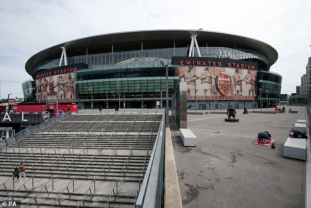 Arsenal Emirates Stadium remains empty as Premier League tries to return to normal