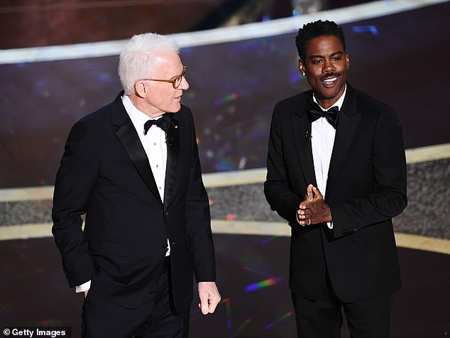 The biggest Hollywood party: Steve Martin and Chris Rock are photographed at the last Oscars in February