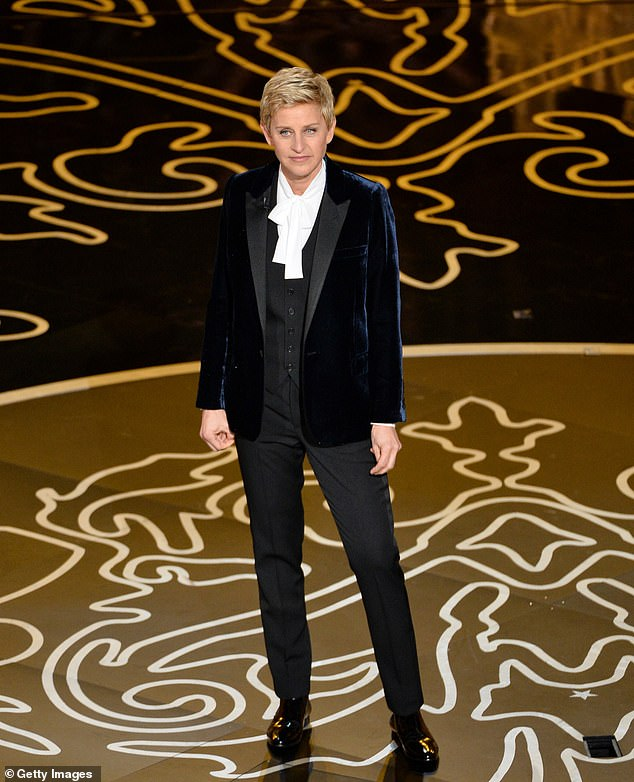 To make it happen: Last month, it was announced that movies that jump onto the big screen would be allowed to compete in the Oscars this year as long as they had a theatrical release planned. Ellen DeGeneres is seen at the 2014 event