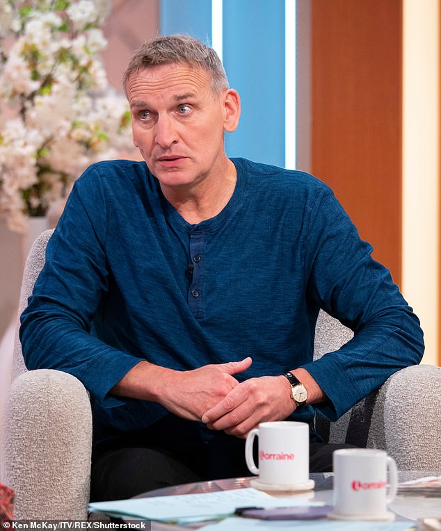 Hitting out: The A Word's Christopher Eccleston called I'm A Celebrity candidates `` holes *** '' after ITV had a scheduling conflict with BBC drama in 2017 (photo in 2019)