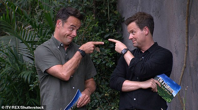 'Dispiriting!': Speaking of the second season, which was scheduled at the time when I was a celebrity in 2017, Christopher joked, telling iNews that it was `` disheartening '' that viewers preferred to watch the jungle series on the BBC drama (I'm a celebrity hosting Ant and Dec in the photo)