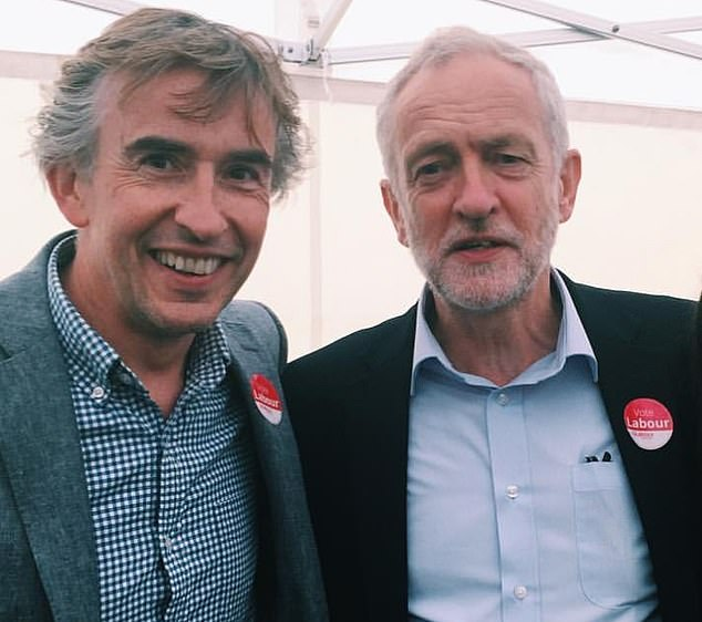 Coogan, known for creating the Alan Partridge character, is worth around £10million and backed Labour's former leader Jeremy Corbyn. Coogan's house boasts a tennis court and swimming pool