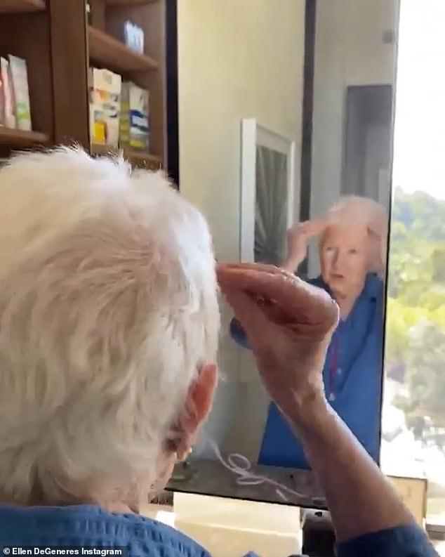 Growing up on it: 'Not yet, but once I washed it ... oh, you really cut it short', marveled the nonagenarian