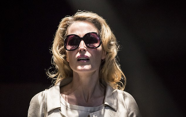 ActressGillian Anderson is pictured above in a 2014 production ofA Streetcar Named Desire. Benedict Andrews' production rips the story out of its period and sets it in an angular, revolving Ikea showroom