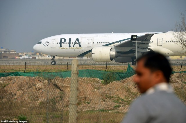 The Airbus A320 operated by state airline Pakistan International had 99 passengers and eight crew were on board. An aircraft of the same model is pictured