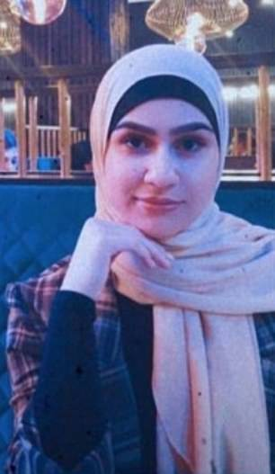 University of Salford student Aya Hachem (pictured) died shortly after she was shot