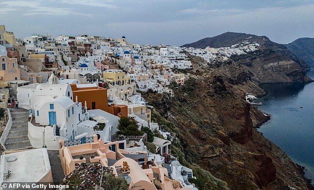 The ministers hope to conclude quarantine pacts with summer destinations - such as France, Spain and Greece (Santorini, photo) - by August and possibly July.