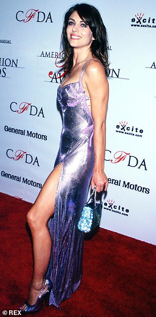 Liz Hurley, pictured at the 1999 CFDA awards in the same dress
