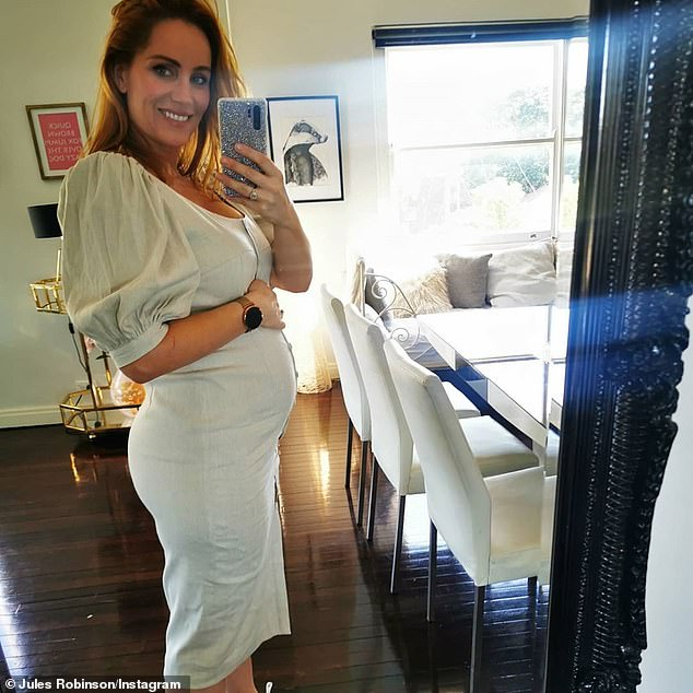 Growing and glowing! MAFS star Jules Robinson showed her baby bump on Saturday