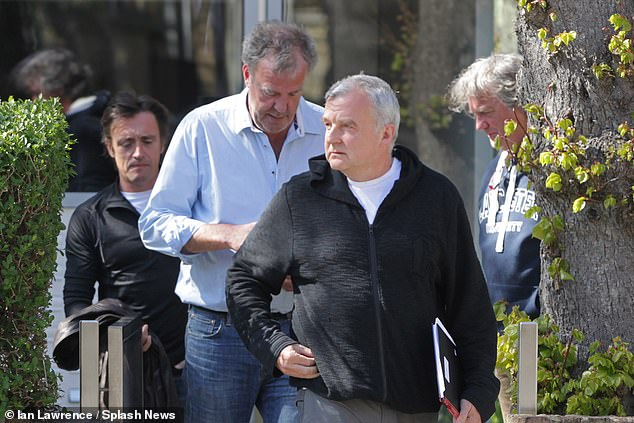 Jeremy Clarkson (centre-left) has revealed Grand Tour producer Andy Wilman (centre-right), 57, suffered from coronavirus twice after spending two weeks in bed