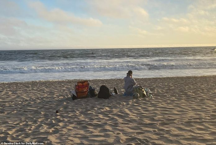 Siliana stayed on the beach Sunday evening and was seen looking out to the ocean while the coast guard was searching