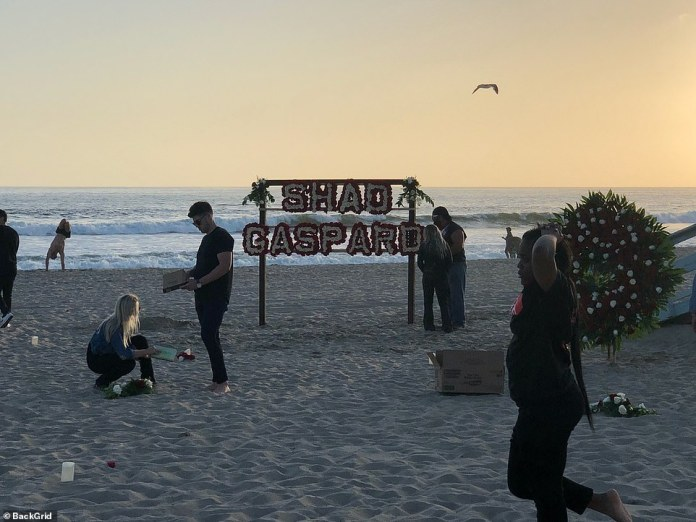 The Los Angeles County Coroner's office said Gaspard was found on the surf line at 2600 Ocean Walk - one mile north of where he would have drowned on Sunday.