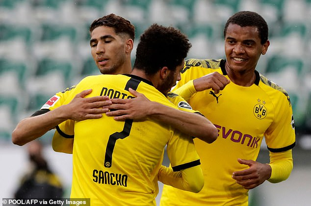 Hakimi scored Dortmund's second goal after being created by substitute Jadon Sancho