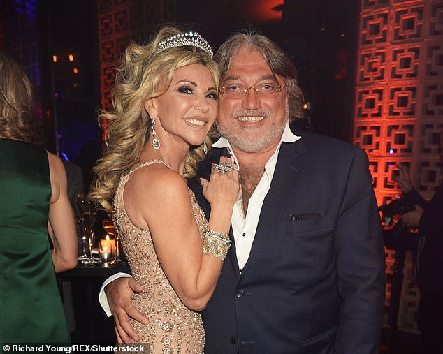 Party lover:Robert Tchenguiz with his sister Lisa at her birthday last year