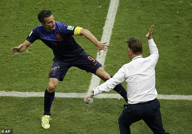 The attacker refused to go out with cramps before the penalties and van Gaal was furious with him