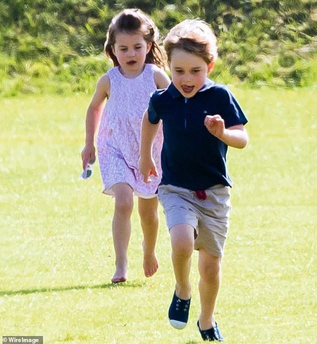 In an interview with BBC Breakfast in April, Kate said of home schooling: `` Don't tell the kids, we actually kept going over the holidays. I feel very mean. Pictured: George and Charlotte playing together in 2018