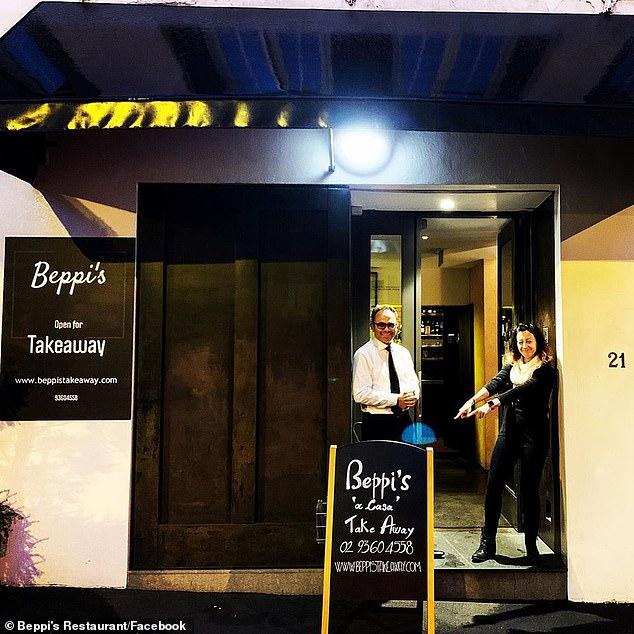 Beppi's Italian restaurant in Sydney was open for take-out only during the COVID-19 lockout