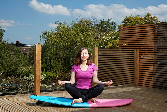 Anna Maxted (pictured) tried Soul & Surf At Home, which is a virtual weekend retreat via Zoom including surf fitness, yoga, massage and cooking demos