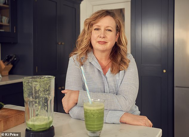 Claudia Connell (pictured) who has gained a stone in the past two months, tried Amanda Hamilton's Online Midlife Reset Detox Retreat