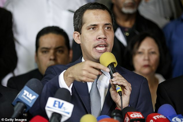 Juan Guaidó, recognized by many members of the international community as the country's interim president, speaking in May, 2019