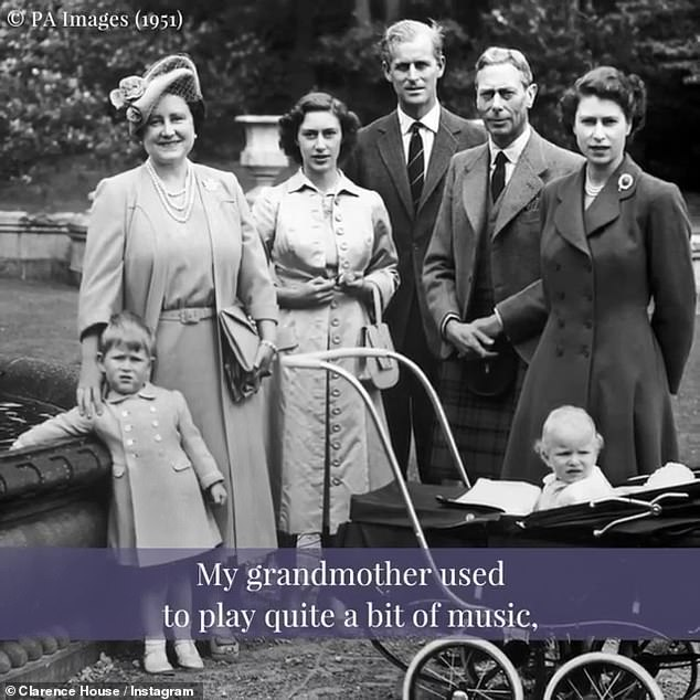 A preview of Prince Charles' classic FM show, which airs this evening at 8 p.m., was shared on the royal's Instagram page this afternoon, along with a selection of old family photos showing a young Charles with his family. (photo from 1951)