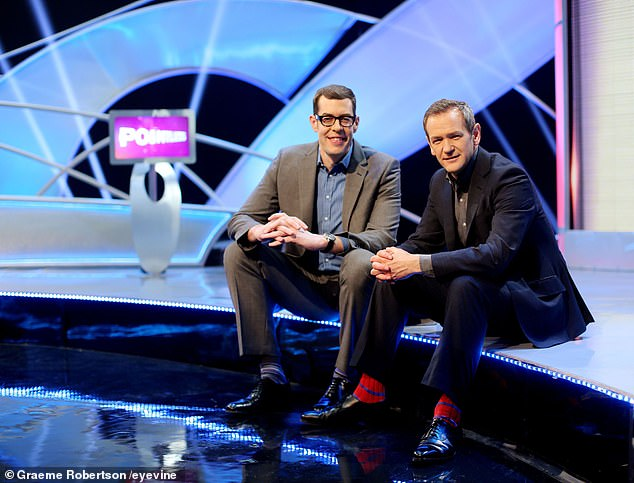 Success: Reflecting on its growing popularity, host Alexander Armstrong (photo with Osman) admitted that the ongoing lockout had a positive effect on ratings