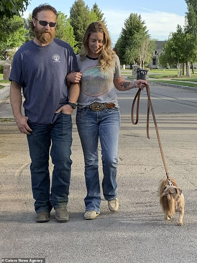 Let's go for a little walk: the couple say locals near their Utah home love Max's look