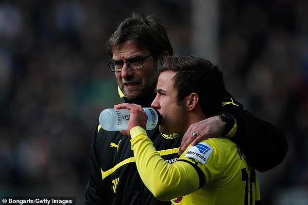 Former Dortmund manager Jurgen Klopp got the best of Gotze at club level
