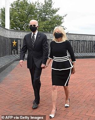 Joe and Jill Biden in Delaware on Monday
