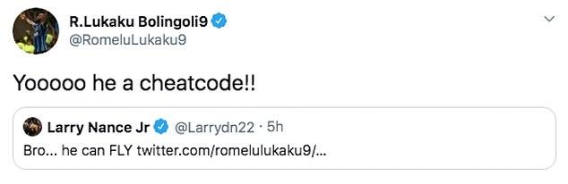 Inter Milan's Romelu Lukaku was very impressed with Davies after his performance