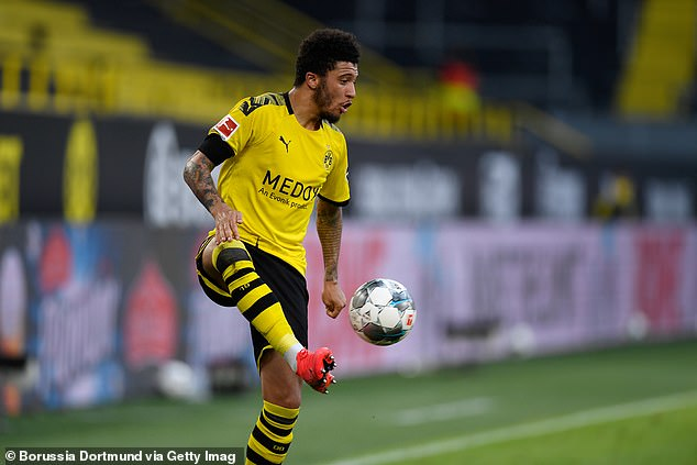 Jadon Sancho watched the beat and struggled to make an impact after entering as a sub