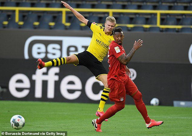 Jerome Boateng (right) did a superb job of preventing Haaland from scoring at Der Klassiker
