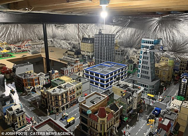 He has since spent over $90,000 collecting and building his Lego city