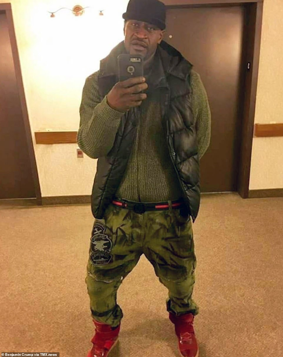 The black man who died in police custody in Minneapolis on Monday has been identified as George Floyd on social media. The attorney representing Floyd's family Benjamin Crump tweeted this photo of the victim on Tuesday, calling for police officers to be brought to justice