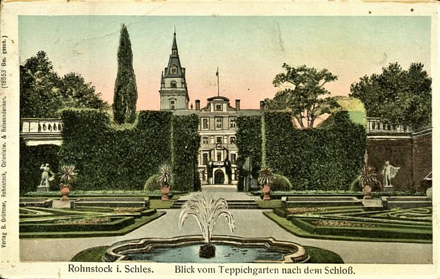 The well is believed to be located in the grounds of the Hochberg Palace (pictured), around the location of the fountain shown in this illustration