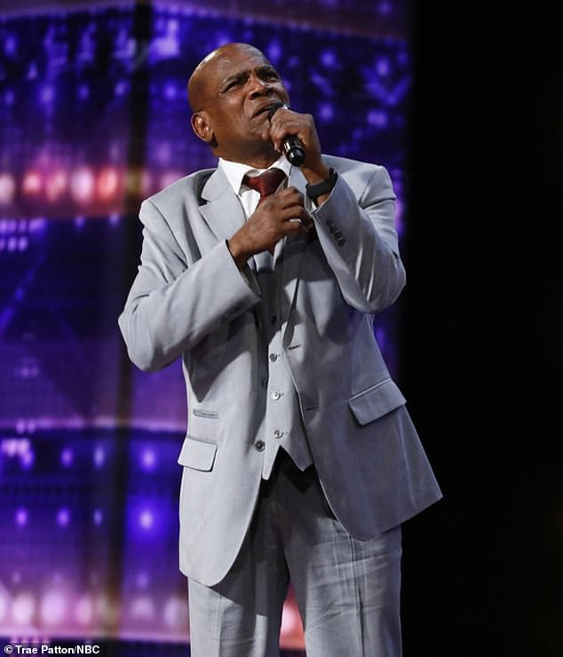 Unforgettable: Archie Williams, 59, of Baton Rouge, Louisiana, performed an emotional rendition of Elton John `` Don't let the sun set on me '' Tuesday America's Got Talent