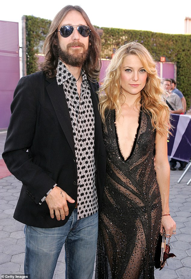 Former love:She shares her eldest son with ex-husband, Chris Robinson. She married the rocker in 2000 before welcoming Ryder four years later. The pair finalized their divorce in 2007 and share joint custody (pictured 2005)
