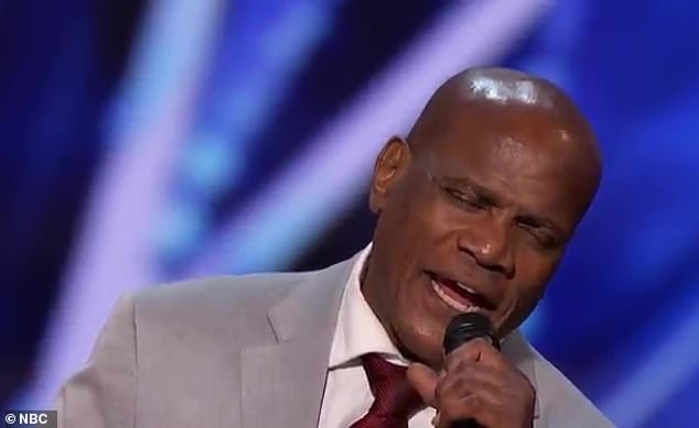 Heartbreaking: Before his performance, the singer explained that he was only 22 years old when he was unjustly convicted of rape and attempted murder of a white woman in 1982