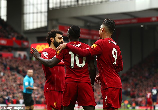 Mo Salah, Sadio Mane and Roberto Firmino of Liverpool have been deadly in recent years
