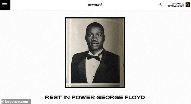 Queen: Beyonce also posted a tribute to Floyd on her website