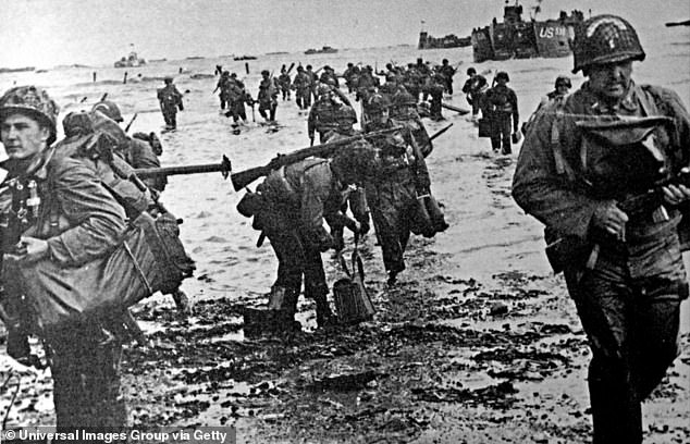 Biden had been accused of mixing up the date of the D-Day landing, pictured above, on June 6, 1944, with the anniversary of Pearl Harbor on December 7, 1941
