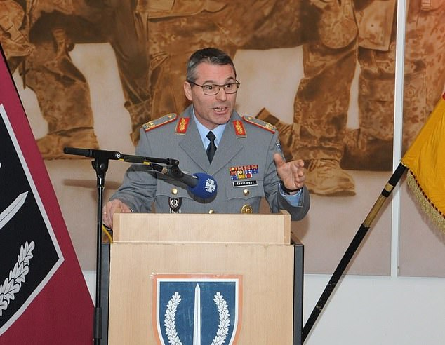 Brigadier General Kreitmayr, 52, (pictured) said the reputation of the KSK was 'on the line'