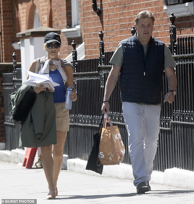 Emily Maitlis was out with her banker husbandMark Gwynne in West London yesterday as the storm raged over her Dominic Cummings monologue