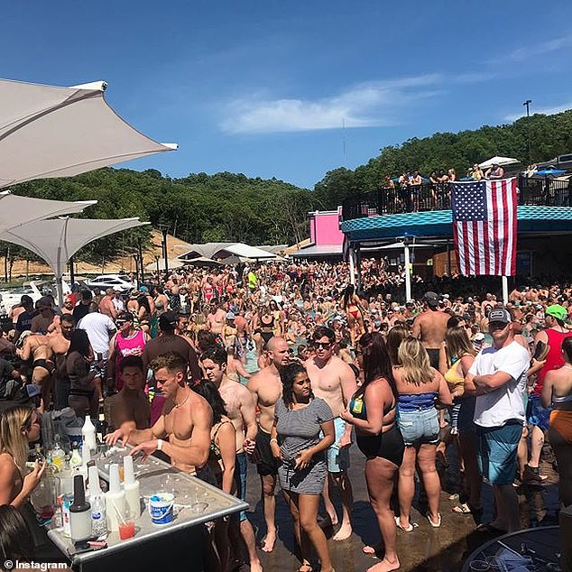 Hundreds of revelers are now at risk of contracting the virus after crowds of people partied at the Lake of the Ozark reservoir in Missouri