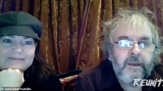 Director Peter Jackson (R) - who refused to remove his shirt to show off his '10' shoulder tattoo - laughed: 'Three inches lower [Elijah] and we'd be in trouble then!'