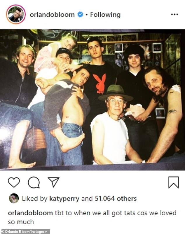 '#TBT':With the exception of John Rhys-Davies - whose stunt double Brett Beattie got tatted instead - Sean Astin, Viggo Mortensen, and Billy Boyd also got inked a week before filming wrapped