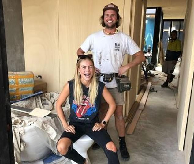 Homeowners could soon be given cash to renovate their homes under a new government stimulus package to stave off a coronavirus-induced construction industry collapse. Pictured: Home renovators Josh Barker and Elyse Knowles