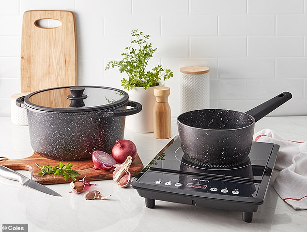 The Australian grocery chain has unveiled more than 30 'premium' cookware items that are traditionally not sold in supermarkets, including sauce pan and $49.99 induction cooker