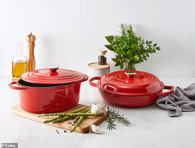 Supermarket Coles has taken on Aldi with its own version of its 'Best Buys range, offering products set to launch every fortnight. Notable deals include Dutch ovens from $19.99